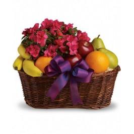 Flowering Plants & Fruit Basket