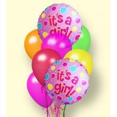 """""""It's a Girl!"""" Balloon Bouquet"""